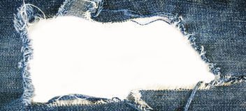 Jeans. Torn jeans texture with space for text Royalty Free Stock Images