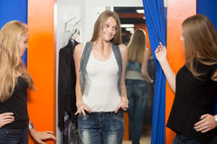 Jeans trop grands Photos stock