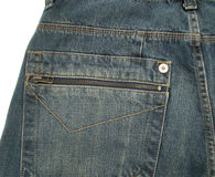 Jeans trouser. Detail of a jeans trouser pocket that could be used as background royalty free stock images