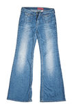 Jeans trousers. Isolated on white Stock Photo