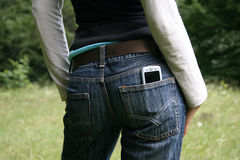 Jeans trousers. Clothes for anyone Stock Photos