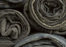 Jeans trousers stack Stock Photos