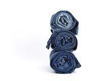 Jeans trousers stack Royalty Free Stock Photo