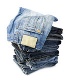 Jeans trousers Stock Photos