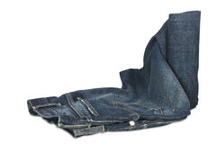 Jeans twisted in roll isolated Stock Image
