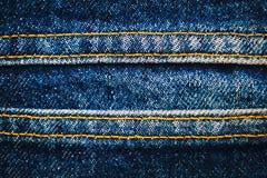 Jeans tyg, grov bomullstvillindigoblått Arkivfoton