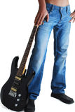 Jeans u. Gitarre Lizenzfreies Stockbild