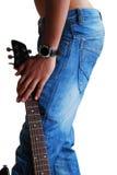 Jeans u. Gitarre Lizenzfreie Stockfotografie