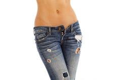 Jeans und bloße Oberseite lizenzfreies stockfoto