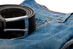 Jeans und Gurt Lizenzfreies Stockbild