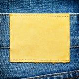 Jeans und Kennsatz stockfoto
