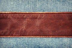Jeans und Leder lizenzfreies stockbild