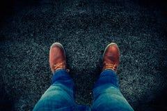 Jeans und Matten Stockfotografie