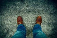 Jeans und Matten Stockfotos