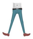Jeans vast royalty-vrije illustratie