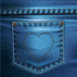 Jeans Vector Background Set Love Royalty Free Stock Photography