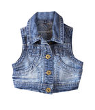 Jeans vest.Isolated. Stock Photography