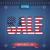 Jeans Vintage Independence Day Frame USA Sale Stock Images