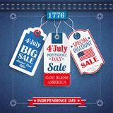 Jeans Vintage Independence Day 3 Price Stickers Stock Photo