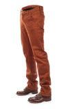 Jeans volumineux vides avec des bottes images libres de droits