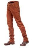 Jeans volumineux vides avec des bottes image libre de droits