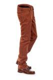 Jeans volumineux vides d'e avec des bottes images stock