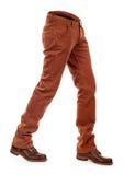 Jeans volumineux vides d'e avec des bottes image stock