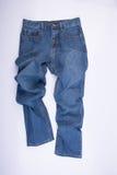 jeans voor mensen of jeans op een achtergrond Stock Foto