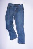 jeans voor mensen of jeans op een achtergrond Royalty-vrije Stock Afbeelding