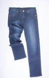 jeans voor mensen of jeans op een achtergrond Royalty-vrije Stock Foto's