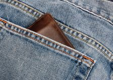 Jeans And Wallet Royalty Free Stock Image