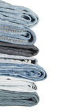 Jeans on a white background Royalty Free Stock Photo