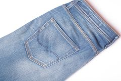 jeans on a white background Stock Images