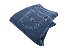 Jeans on white macro Royalty Free Stock Photo