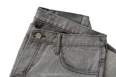 Jeans On White Stock Image