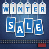 Jeans Winter Sale Price Stickers Royalty Free Stock Image