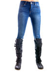 Jeans, Woman waist wearing jeans Royalty Free Stock Image