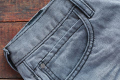Jeans On Wood Stock Photos