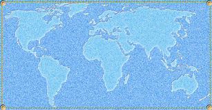 Jeans world map Royalty Free Stock Photo