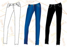 Jeans for young women Stock Images