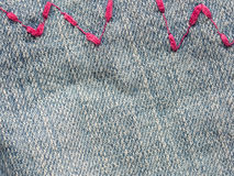 Jeans zig zag Stock Photos