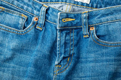 Jeans zip up Royalty Free Stock Image