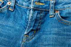 Jeans zip up Royalty Free Stock Images