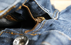 Jeans zipper Royalty Free Stock Image