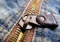 Jeans zipper royalty free stock photo