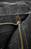 Jeans zipper Stock Photos