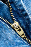 Jeans Zipper Royalty Free Stock Photo