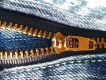 Jeans zipper Stock Photography