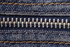 Jeans zipper close up Stock Image