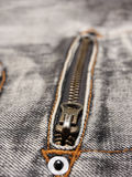 Jeans zipper detail Stock Images